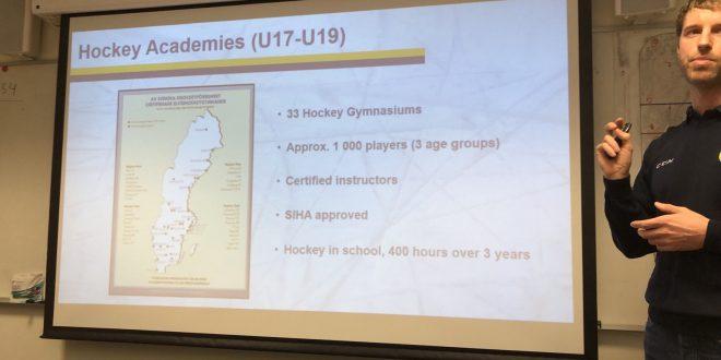 """Семинар на тема """"Шведския модел в привличането и обучението на начинаещи и подрастващи хокеисти"""""""